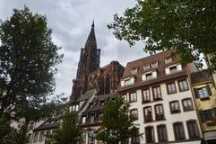 Cattedrale di Strasburgo, l'Alsazia, Francia Immagine Stock