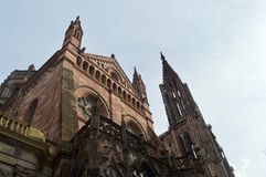 Cattedrale di Strasburgo, l'Alsazia, Francia Fotografia Stock Libera da Diritti