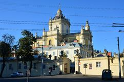 Cattedrale di StYura, città Leopoli, Ucraina Immagini Stock
