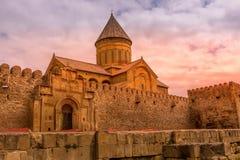 Cattedrale di Svetitskhoveli in Mtskheta, Georgia immagine stock libera da diritti