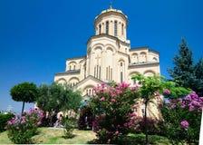Cattedrale di Tbilisi, la cattedrale principale della trinità santa della chiesa ortodossa georgiana fotografia stock