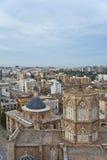 Cattedrale di Te nel centro urbano di Valencia. Fotografia Stock Libera da Diritti