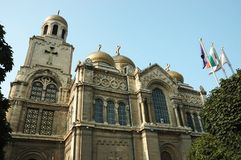 Cattedrale di Theotokos a Varna, Bulgaria Fotografie Stock Libere da Diritti