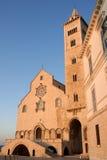 Cattedrale di Trani all'indicatore luminoso di tramonto Immagini Stock