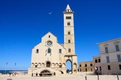 Cattedrale di Trani, Apulia, Italia fotografia stock