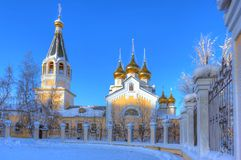 Cattedrale di trasfigurazione di Gradoyakutsky Fotografie Stock