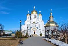 Cattedrale di trasfigurazione in Diveevo immagini stock libere da diritti