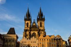 Cattedrale di Tyn a Praga Fotografie Stock Libere da Diritti