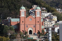 Cattedrale di Urakami a Nagasaki Fotografia Stock