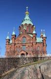 Cattedrale di Uspenski a Helsinki Fotografia Stock Libera da Diritti