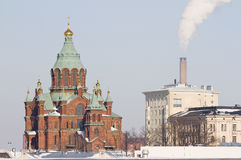 Cattedrale di Uspenski, Helsinki Fotografie Stock