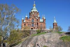 Cattedrale di Uspensky a Helsinki Finalnd Fotografie Stock Libere da Diritti