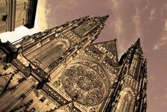 Cattedrale di Vitus del san del castello di Praga Immagine Stock Libera da Diritti