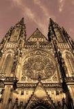 Cattedrale di Vitus del san del castello di Praga Fotografie Stock