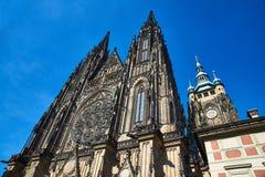 Cattedrale di Vitus del san, Praga Fotografia Stock