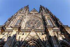 Cattedrale di vitus della st in repubblica Ceca di Praga Fotografia Stock Libera da Diritti