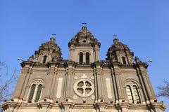 Cattedrale di Wangfujing Fotografia Stock