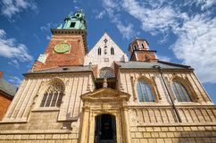 Cattedrale di Wawel del castello reale di Wawel, Cracovia, Polonia Fotografia Stock