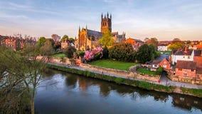 Cattedrale di Worcester Immagini Stock