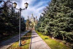 Cattedrale di Zenkov a Almaty Immagini Stock Libere da Diritti