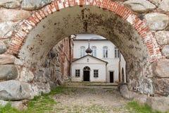 Cattedrale di Zosimo-Savvatievsky della trinità santa Fotografia Stock