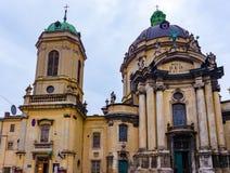Cattedrale domenicana a Lviv Fotografia Stock