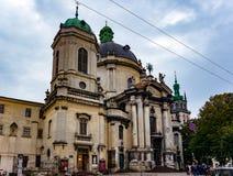 Cattedrale domenicana a Lviv Immagine Stock