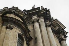 Cattedrale domenicana a Lviv Fotografie Stock