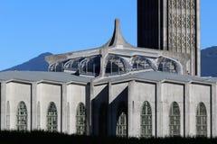 Cattedrale e campanile - Westminster Abbey Mission BC fotografia stock