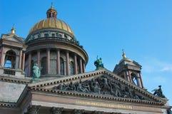 Cattedrale e cielo della st Isaak Fotografie Stock Libere da Diritti