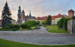 Cattedrale e giardino della collina di Wawel Fotografia Stock Libera da Diritti