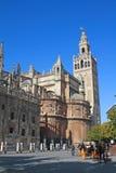 Cattedrale e Giralda, Siviglia. fotografia stock libera da diritti