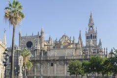 Cattedrale e torre di GIralda, Siviglia, Spagna fotografia stock