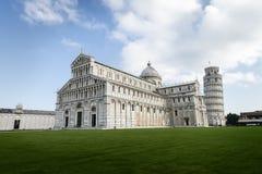 Cattedrale e torre di Pisa Fotografia Stock