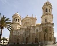 Cattedrale famosa a Cadice. Fotografia Stock Libera da Diritti