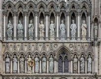 Cattedrale Front Trondheim Norway ad ovest di Nidaros Fotografia Stock
