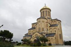 Cattedrale Georgia di Sameba fotografie stock libere da diritti