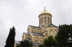 Cattedrale Georgia di Sameba fotografia stock libera da diritti