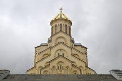 Cattedrale Georgia di Sameba fotografia stock