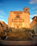 Cattedrale a Girona, Catalogna, Spagna Fotografia Stock Libera da Diritti