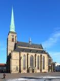 Cattedrale gotica della st Bartholomew in Pilsen. Fotografie Stock Libere da Diritti