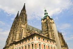 Cattedrale gotica della st Vitus Immagini Stock
