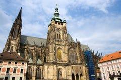Cattedrale gotica della st Vitus a Praga Fotografie Stock Libere da Diritti