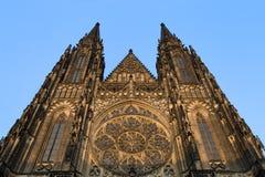 Cattedrale gotica della st Vitus a Praga Immagini Stock Libere da Diritti