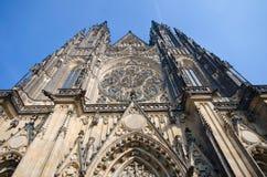 Cattedrale gotica della st Vitus, Praga Fotografie Stock Libere da Diritti
