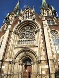 Cattedrale gotica di Leopoli fotografia stock libera da diritti