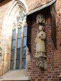 Cattedrale gotica di St John il battista sull'isola di Tumski Uno dei punti di riferimento famosi nella città wroclaw Fotografia Stock Libera da Diritti