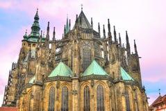 Cattedrale gotica di Vitus del san a Praga Immagini Stock
