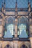 Cattedrale gotica a Praga Fotografie Stock
