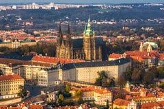 Cattedrale gotica (st Vitus, Praga) Fotografia Stock